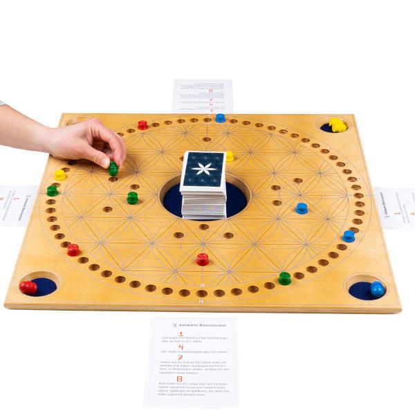 Senioren-Brettspiel TAC Premium für Blinde mit Braillekarten