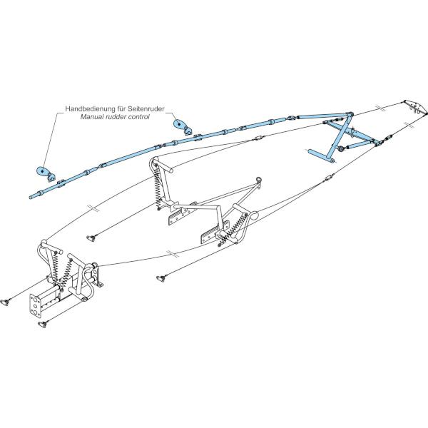 Seitenruder-Handsteuerung für Segelflugzeuge