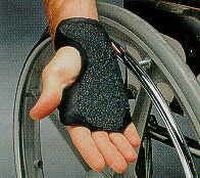 Rollstuhlhandschuh-Manschette