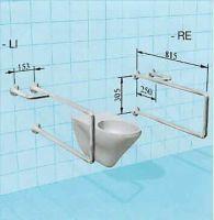 Sicherheits-WC-Stützgriff, bodenfrei montiert