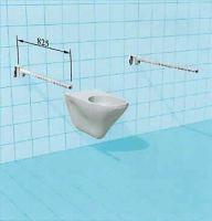 Sicherheits-WC-Stützklappgriff mit Arretierung