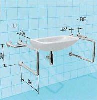 Sicherheits-Waschtisch-Stützgriff als Kombination Handtuchhalter