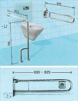 Sicherheits-WC-Stützklappgriff mit pneumatischer Spülkastenbetätigung