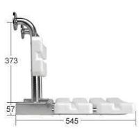 Duschklappsitz mit Airmatic und Lehne Wandmontage