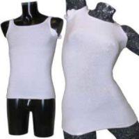 Korsetthemd mit Schulterträgern und Achselschützer (Rundausschnitt)