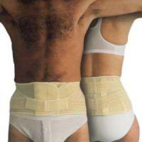 Elcross-Rückenstützbandage (14 cm hoch) ohne Pelotte / Elcross-Rückenstützbandage (14 cm hoch) mit Pelotte