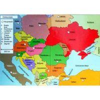 Reliefkarte Osteuropa