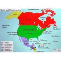 Reliefkarte Nord- und Mittelamerika