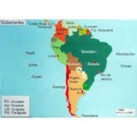 Reliefkarte Südamerika