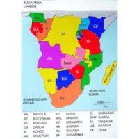 Reliefkarte Südafrika