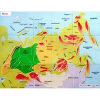 Reliefkarte Russland Sibirien