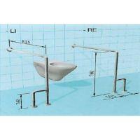 Sicherheits-WC-Stützgriff, mit/ohne seitliche Bodenstütze