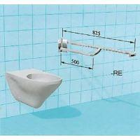 Sicherheits-WC-Stützklappgriff mit vorderem Greifbogen und Arretierung