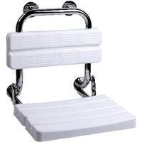 FRELU - Duschklappsitz mit Rückenlehne für Wandmontage