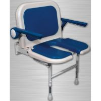 Duschklappsitz 4000, mit Arm- und Rückenlehne, Intimausschnitt