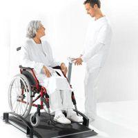 Funkfähige elektronische Rollstuhlwaage seca 665