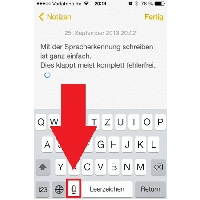 Notizen-App mit Diktierfunktion