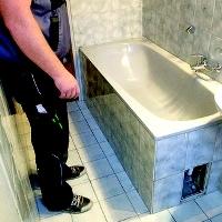 Umbau der Wanne zur begehbaren Dusche
