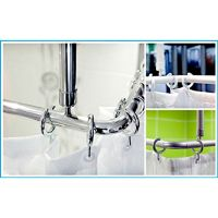 Sicherheits-Dusch-Spritzschutz als Vorhanghalter, höhenverstellbar