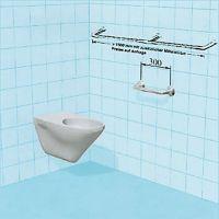 Sicherheits-Dusch-Spritzschutz als Vorhanghalter, nicht höhenverstellbar