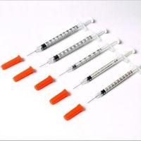 Terumo Insulin-Spritze 1 ml, U-100 mit Kanüle (26G)