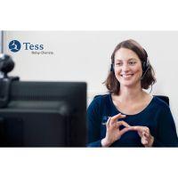 Tess Relay Dienste - Gebärdensprachdolmetschdienst, Schriftdolmetschdienst