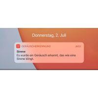 Apple iOS 14: Einstellung Geräuscherkennung