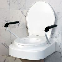 Servocare höhenverstellbarer Toilettensitz mit Lehnen