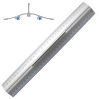Wedo Alu-Lineal 30 cm mit Griff für Rechts & Links