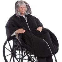 Rolly exklusiver winterwarmer Rollstuhlponcho Pelz Allwetter-Cape